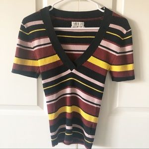 Urban Outfitters Striped Knit Sweater/Size Medium